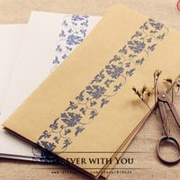 Free shiipping kraft paper envelope for wedding gift packaging envelopes vintage airmail envelopes diy scrapbooking 17cm*24cm