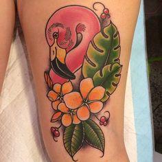 ... Flamingo Tattoo on Pinterest | Tattoos Pineapple Tattoo and Tattoo