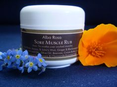 Alba Rosa Sore Muscle Rub is designed to ease muscular aches and pains. Sore Muscles, Cocoa, The Balm, Artisan, Soap, Skin Care, Skincare Routine, Craftsman, Skins Uk