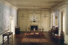 Frozen in time: In 1946, Thorne's husband died, leaving his widow with a $2million estate. Pictured, Virginia Dining Room, 1758 - built in 1940