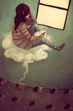 "nefelibata (n.) lit. ""cloud walker""; one who lives in the clouds of their own imagination, or one who does not obey by the conventions of society, literature, or art."