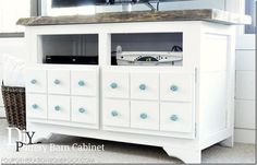 DIY Pottery Barn Inspired Media Cabinet (great tips and ideas... love this blog)