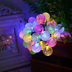 6.5M 30LED Bubble Shape Solar String Lights Fine Wedding Lights #Christmas Decoration Lights