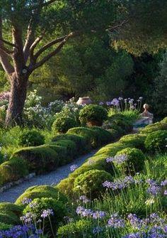 jardin proven al typique olivier lavandes santolines et cypr s jardin et terrasse pinterest. Black Bedroom Furniture Sets. Home Design Ideas