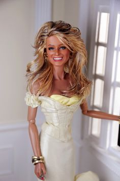 Farrah Fawcett (vs. 10.0) A Mattel Black Label Barbie repainted and restyled by Noel Cruz of ncruz.com for myfarrah.com.