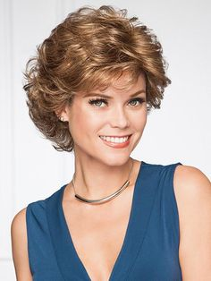 Belle Wig by Gabor Wigs Haircuts For Curly Hair, Short Curly Hair, Wig Hairstyles, Short Hair Cuts, Wedding Hairstyles, Curly Hair Styles, Natural Hair Styles, Hairstyles 2016, Short Wigs
