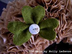 504 Main by Holly Lefevre: How To Make a Felt Shamrock (Super Easy!)