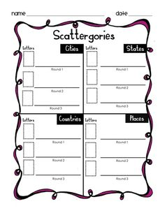 FREE Word Work Game, 50+ pages, 3 Skill Levels and ink friendly options. Click here to download.