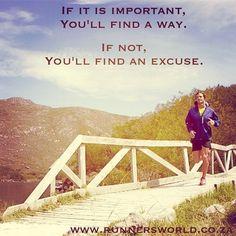 Motivational Running Quote: No Excuses - Runner's World Magazine