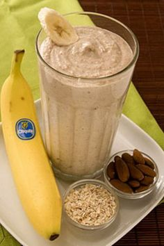 Banana Oatmeal Protein Shake Banana is always a good idea for protein shake, and when you have the right recipes than you got the right thing, just like this recipe here.