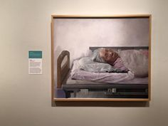 """Silence"" Bo Wang  Tempera on board 1000*1160mm Silence portrays Wang's grandmother lying in a hospital bed during the last stages of cancer, losing her ability to speak. BP Portrait Award 2016, National Portrait Galley"