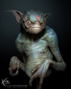 mysterious creatures art deviant | alien creature by kenbarthelmey on deviantart