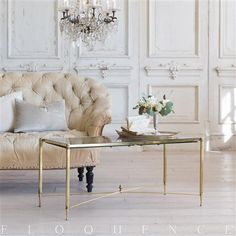 Eloquence French Country Style Vintage Coffee Table: 1970 | Kathy Kuo Home