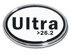 26.2 Ultra Marathon Chrome Car Emblem
