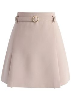 An Eye for Faddish Bud Skirt in Nude - New Arrivals - Retro, Indie and Unique Fashion