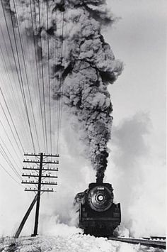 Canadian Pacific Railway, Vaudreiul, PQ, 1960 by David Plowden.