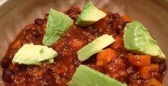 Vegan Dish: Sweet Potato Chili with Quinoa
