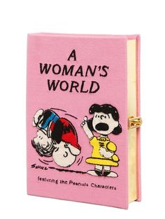 OLYMPIA LE-TAN - A WOMAN'S WORLD EMBROIDERED BOOK CLUTCH - CLUTCHES - PINK - LUISAVIAROMA