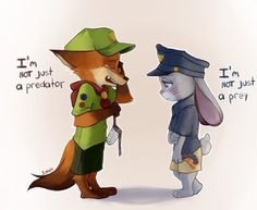 Aww, they're the same.   Judick! Zootopia! Nick and Judy