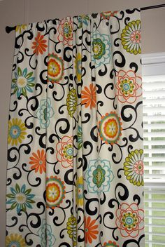 orange and black shower curtain. Perfect for living room Pair of Waverly Pom Play Confetti Designer  Drapes Curtains wide x long Big Bold Flowers Orange Custom Shower Curtain Whimsy Paisley Mardi Gras plum yellow green