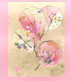 handmade Origami: Cards - Sophia Roberts - Picasa Web Albums ... sweet folded fans ...