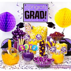 Purple & Yellow Candy Buffet