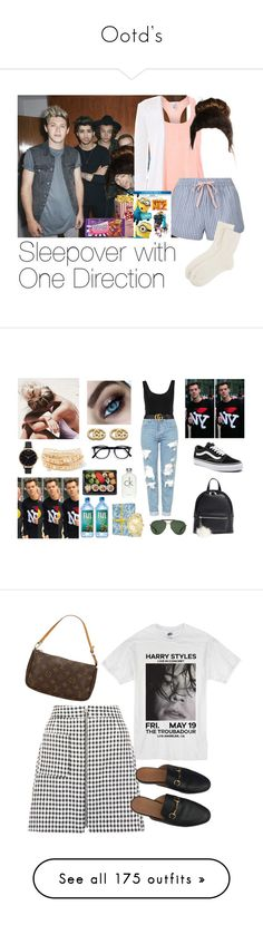 """""""Ootd's"""" by onedirection-5sos-imaginesoutfit ❤ liked on Polyvore featuring Eberjey, Topshop, Cadbury, Johnstons of Elgin, Despicable Me, one direction 1d niall horan harry styles liam payne louis tomlinson zayn malik, River Island, Gucci, Vans and BP."""