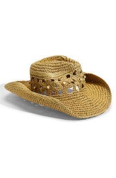 Tarnish Crochet Straw Hat