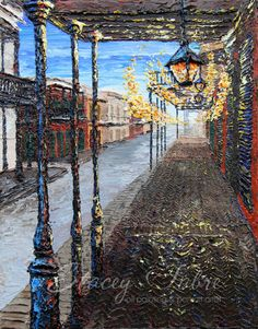 Bourbon St  matted to fit 16x20  PRINT by StaceyFabre on Etsy - Houma, LA impasto artist