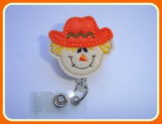 Fall Badge Reel ID Holder Retractable  by clippiecollections