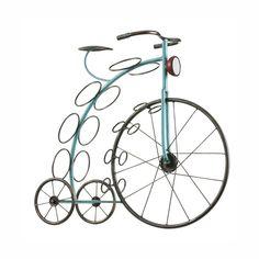 Blue Big Wheel Wine Rack   dotandbo.com