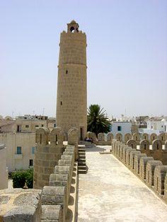 Tunisia, El Ribat de Sousse - Torreón de vigilancia.