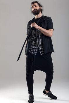 Shirt long tee Sleeveless asymmetric vest