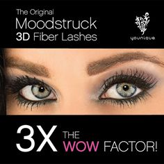 Get 3X the WOW factor with the original Moodstruck 3D Fiber Lashes from Younique. www.YouniquelyAmyBatten.com