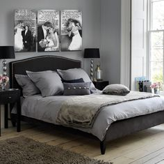 Love this idea for printing your wedding photos! perfect for above your bed, plus photo editing is a must!  https://www.etsy.com/listing/178657484/wedding-vow-photo-canvas-in-black-and?ref=shop_home_active_1