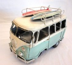 """Love this for a shelf in my bathroom Amazon.com - Blue Green Volkswagen Van with Surfboards - Vw Woody Surfing - 8.25"""" X 4.5"""" X 5.5"""" - Comes Packaged with a Credit Card Sized Tr..."""