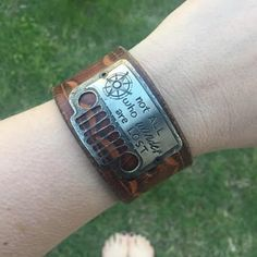 Not all who Wander are Lost Jeep Grill Bracelet • So Beautifully Broken