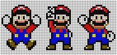 Super Mario NES perler bead pattern