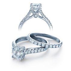 Parisian engagement ring #JewelryDesignCenter #Verragio