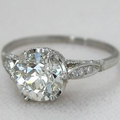 old mine antique engagement ring