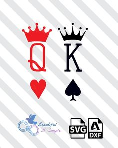 King of spades queen of heart, svg and dxf file queen of hearts tattoo, Queen Tattoo, King Tattoos, Body Art Tattoos, Rose Drawing Tattoo, Tattoo Drawings, King Of Hearts Tattoo, Queen Of Hearts Card, Spade Tattoo, King And Queen Crowns