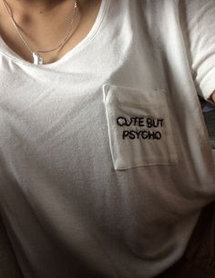 embroidery shops could help you get something fun on pocket t shirts, or ...... just use a sharpie