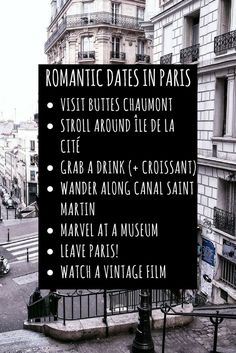 romantic dates in paris that aren't actually cliché