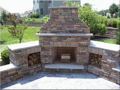 Outdoor Fireplace ~definitely want one of these someday~