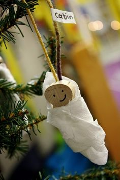 preschool christmas crafts jesus   Baby Jesus Christmas Ornaments   Pre-K Crafts