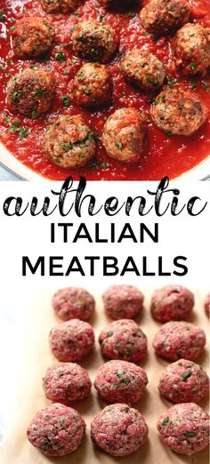 The best classic Italian-American style meatballs recipe.You can find Italian recipes and more on our website.The best classic Italian-American style meatballs recipe. Meatball Recipes, Meat Recipes, Chicken Recipes, Cooking Recipes, Healthy Recipes, Meatball Subs, Recipies, Beef Dishes, Pasta Dishes