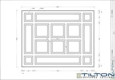 Coffered Ceiling Design Drawing - Square Grid 05