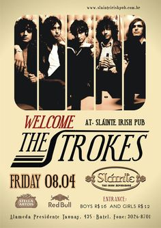 The Strokes : Indie Alternative Music. Concert Poster
