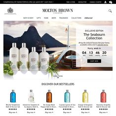 Countdown Timer in home page banner from Molton Brown #Web #Digital #Marketing #Beauty #CountdownTimer