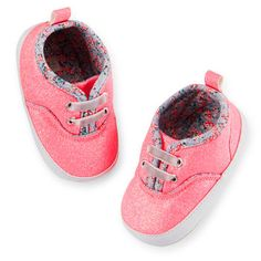 Carter's Glitter Sneaker Crib Shoes. These are amazing!